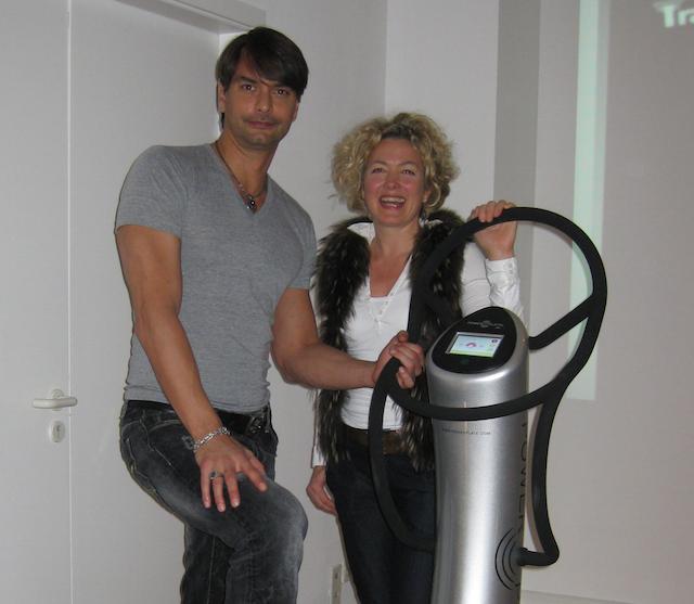 Marcus-Schenkenberg und Birgit Thiemann im Power Place Wentorf.